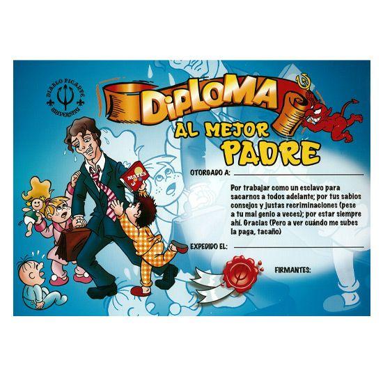 DIPLOMA AL MEJOR PADRE - 100momentos.es