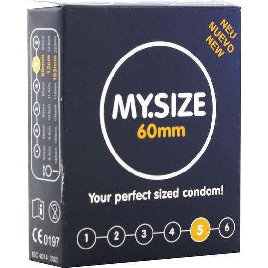 MY SIZE PRESERVATIVOS 60 MM 3 UDS - 100momentos.es
