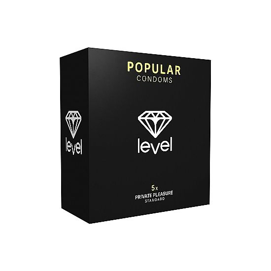 PRESERVATIVOS LEVEL POPULAR CONDOMS - 5UDS - 100momentos.es